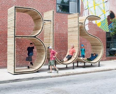バス停のベンチ04