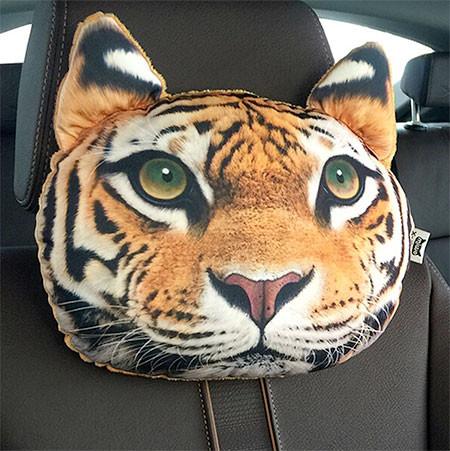 動物の顔の自動車用の枕の画像(3枚目)