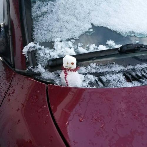 面白い雪だるまの画像(5枚目)