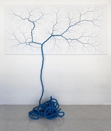 ロープをほぐして作った樹木02