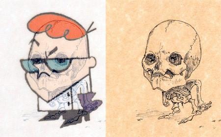 アニメや漫画のキャラクターの骨格のイメージ画像が凄いwwwの画像(7枚目)