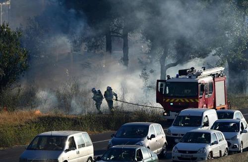 フランスのマルセイユの山火事の画像(6枚目)