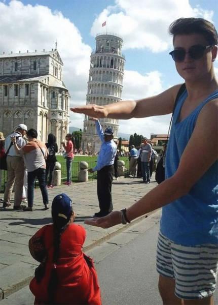 ピサの斜塔の記念撮影の画像(13枚目)