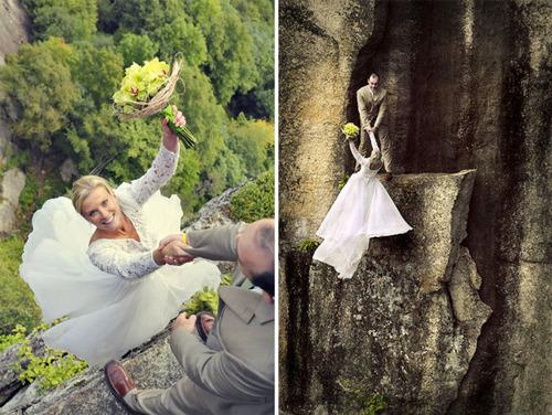 【画像】結婚式も凄い!エクストリームウェディング!!の画像(9枚目)