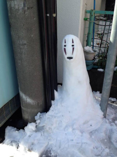 面白い雪だるまの画像(34枚目)