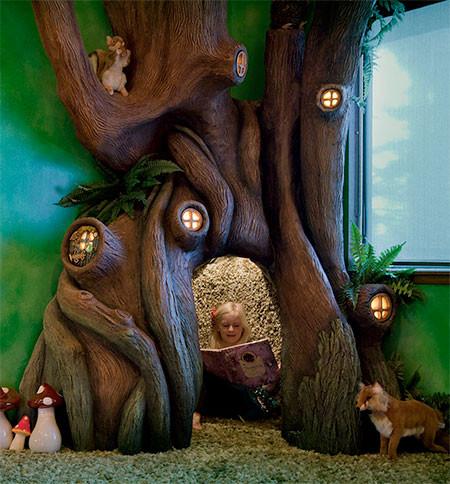 家の中に樹木の洞穴「樹洞」ができる!子供達も大喜び!!の画像(2枚目)
