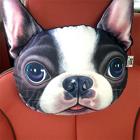 動物の顔の自動車用の枕の画像(2枚目)