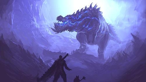 幻想的でドキドキする超巨大生物の壁紙!の画像(19枚目)