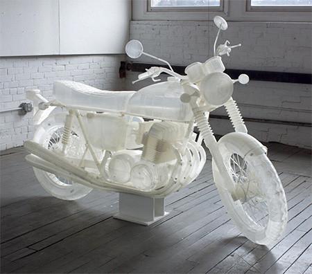 3Dプリンタで作った実物大のバイクの模型02