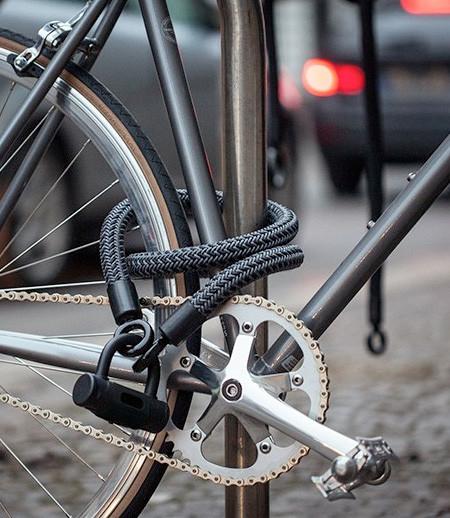 縄でできた自転車のワイヤーロックの画像(5枚目)