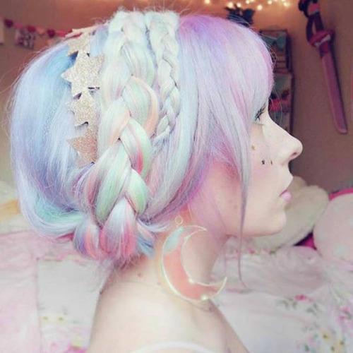 虹のような髪の毛の女の子の画像(9枚目)