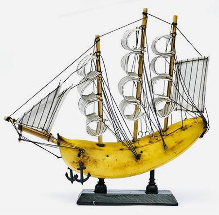 本物のバナナで作ったバナナボートの画像(4枚目)