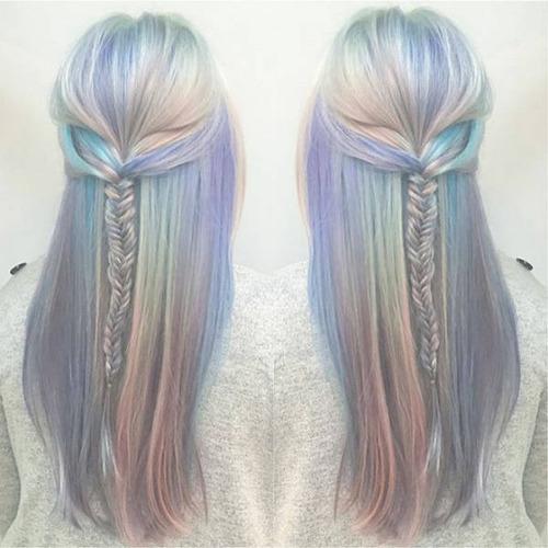 虹のような髪の毛の女の子の画像(26枚目)