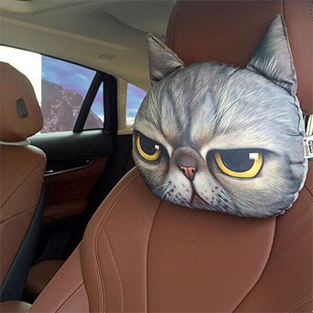 動物の顔の自動車用の枕の画像(8枚目)