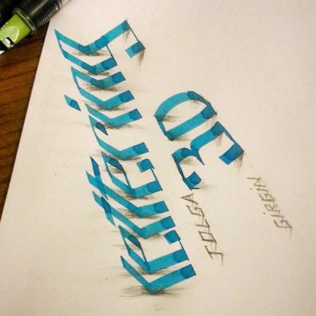 ノートにペンだけで描いた3Dの文字が凄い!!の画像(6枚目)