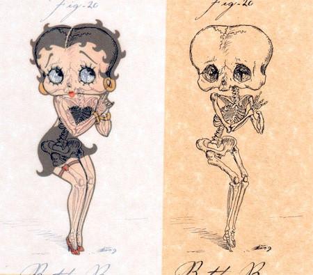 アニメや漫画のキャラクターの骨格のイメージ画像が凄いwwwの画像(2枚目)