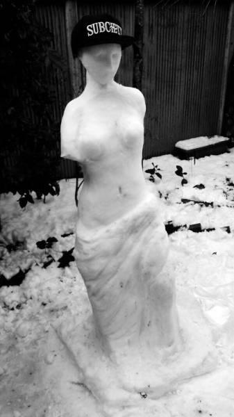 面白い雪だるまの画像(29枚目)