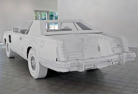 紙だけで再現した自動車の画像(5枚目)