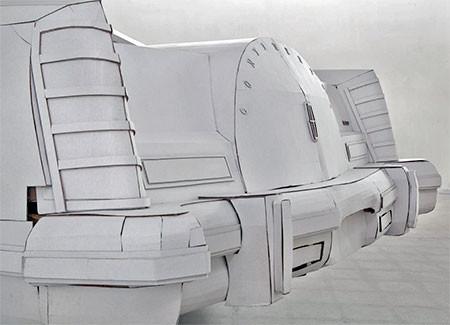 紙だけで再現した自動車の画像(10枚目)