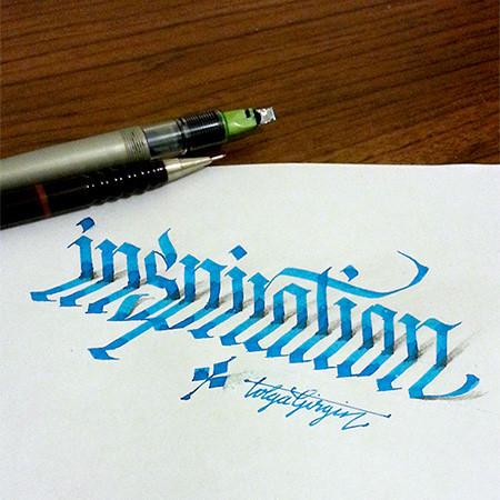 ノートにペンだけで描いた3Dの文字が凄い!!の画像(2枚目)