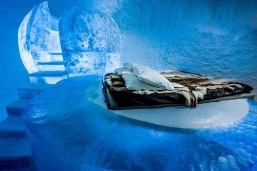 氷でできた極寒のホテルの画像(4枚目)