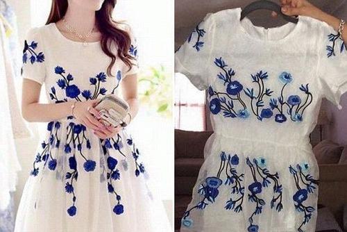 ちょっと酷い…女性の服の商品画像と届いた商品の比較画像の数々。。の画像(3枚目)