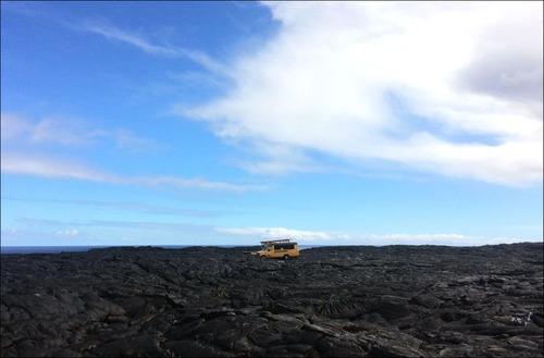 キラウエア火山から海に流込む溶岩の画像(15枚目)