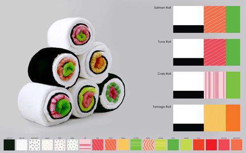 寿司のようなバスタオルの画像1