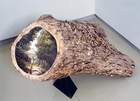 木の年輪に描かれた絵03