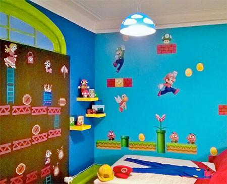 部屋一面スーパーマリオの画像(5枚目)