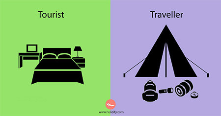 「観光客」vs「旅行者」の比較画像が分りやすい!!の画像(2枚目)