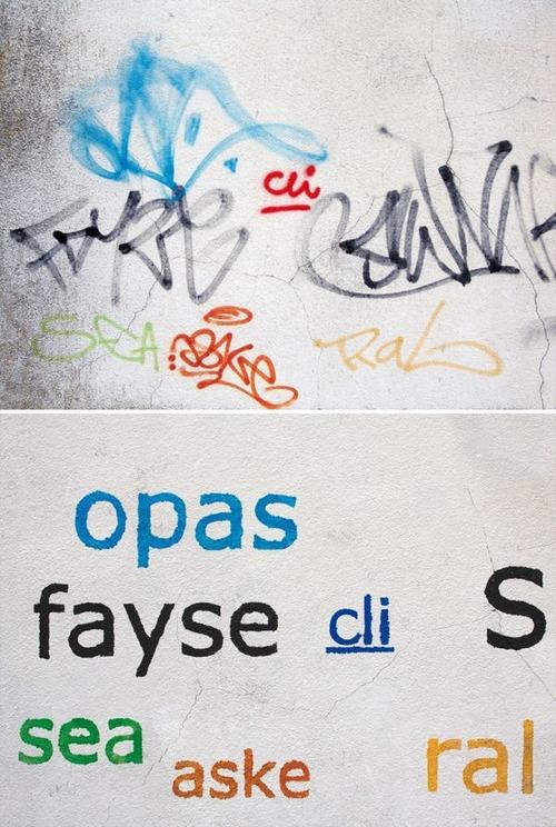 壁の落書きの文字の画像(8枚目)