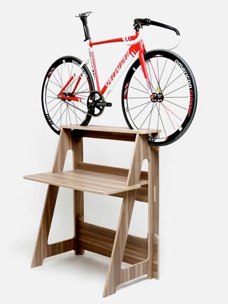 ちょっとした工夫で自転車の収納がカッコよくなる!の画像(5枚目)