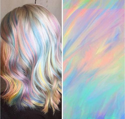 虹のような髪の毛の女の子の画像(20枚目)