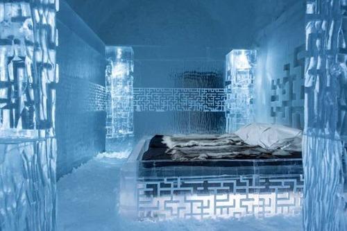 氷でできた極寒のホテルの画像(10枚目)