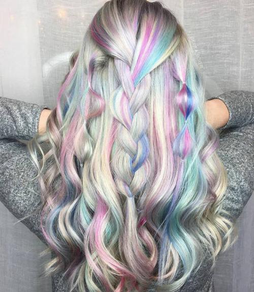 虹のような髪の毛の女の子の画像(30枚目)