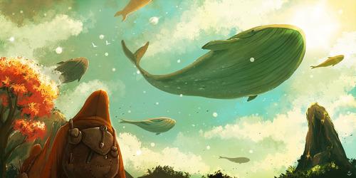 幻想的でドキドキする超巨大生物の壁紙!の画像(2枚目)