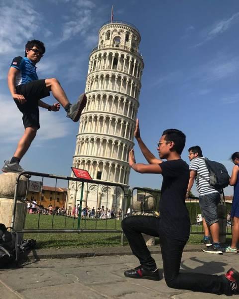ピサの斜塔の記念撮影の画像(11枚目)