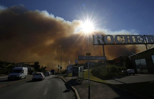 フランスのマルセイユの山火事の画像(17枚目)