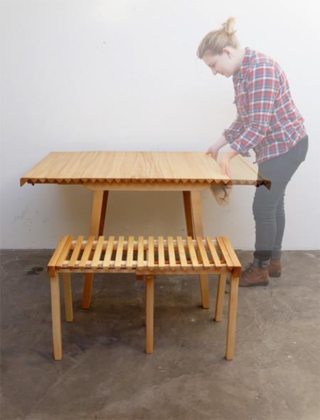 長さ調節自在な木製の机08