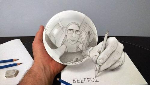 紙で作った3Dアートの画像(3枚目)