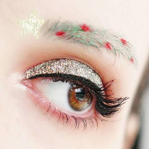 クリスマスをイメージした眉毛のメイクの画像(6枚目)