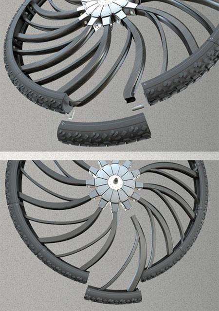自転車のホイール一体型のサス05