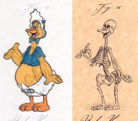 アニメや漫画のキャラクターの骨格のイメージ画像が凄いwwwの画像(16枚目)