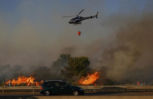 フランスのマルセイユの山火事の画像(9枚目)