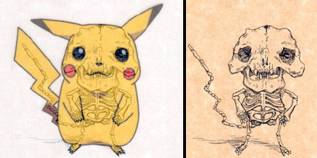 アニメや漫画のキャラクターの骨格のイメージ画像が凄いwwwの画像(1枚目)
