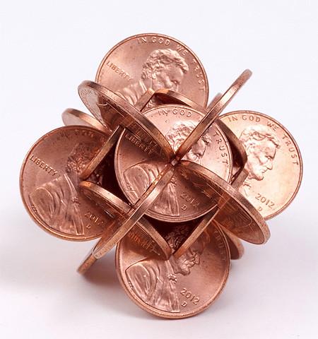 【画像】もったいないけど凄い!コインを使った面白アート!の画像(16枚目)