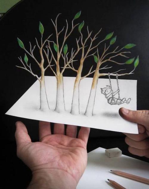 紙で作った3Dアートの画像(24枚目)