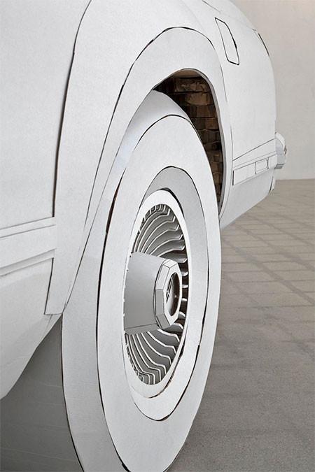 紙だけで再現した自動車の画像(9枚目)