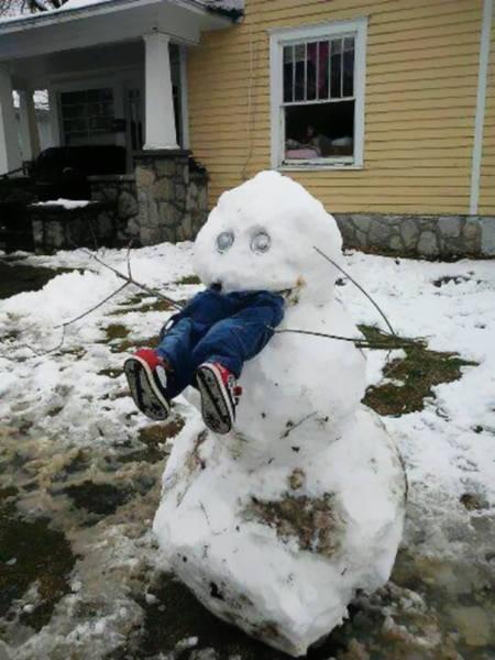 面白い雪だるまの画像(27枚目)